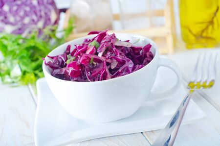 appetize: salad with blue cabbage