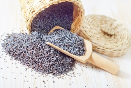 black seeds: poppy seed Stock Photo