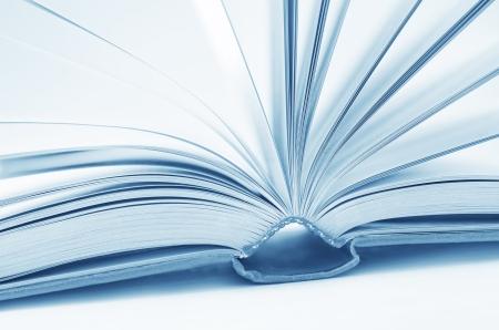 book binding: open books