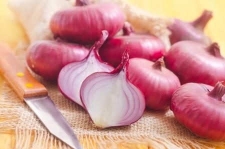 red onion: cebolla Foto de archivo