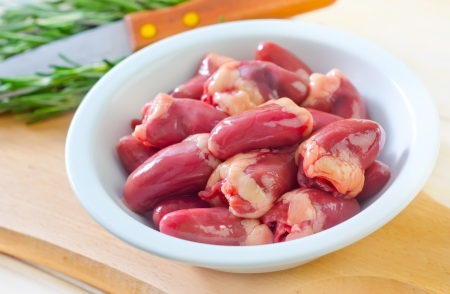 giblets: chicken hearts