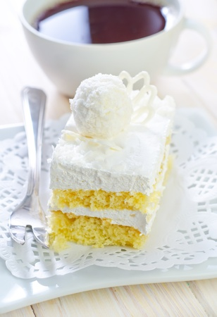 Cake with coffee photo