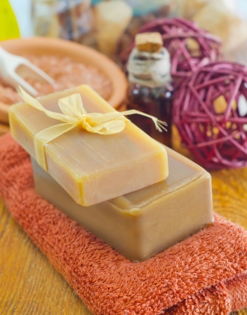 soap and towels photo