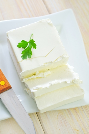 white cheese Stock Photo