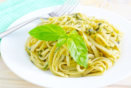 pasta with basil photo