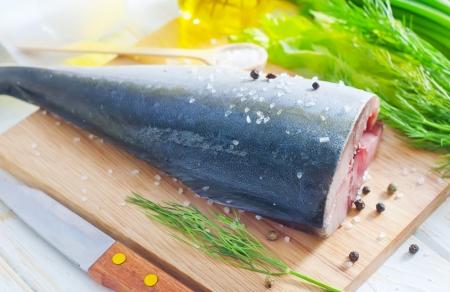 horizontals: raw tuna