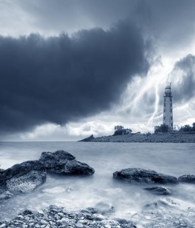 風暴在海面上 版權商用圖片