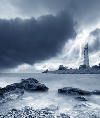 storm on the sea photo
