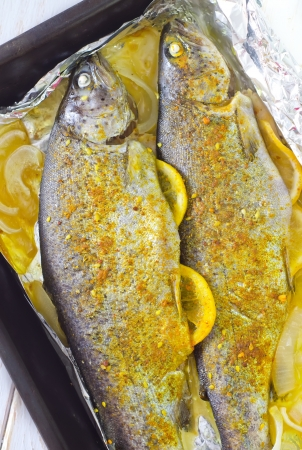 baked fish Stock Photo - 19770532