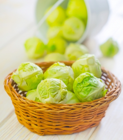 brussel cabbage Stock Photo