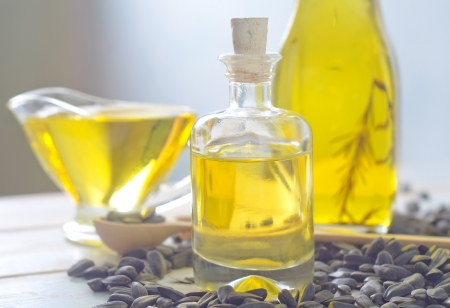 sunflower seeds and oil photo