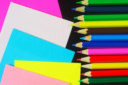 nota: color sheets for note and pencil