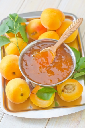 jam and apricots photo