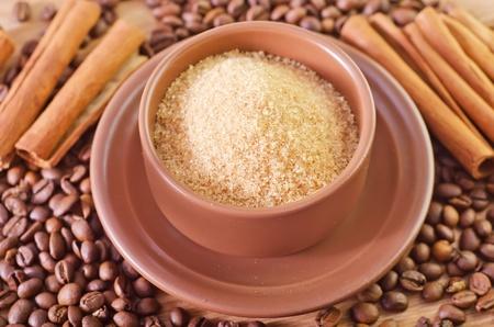 refine: sugar and coffee Stock Photo