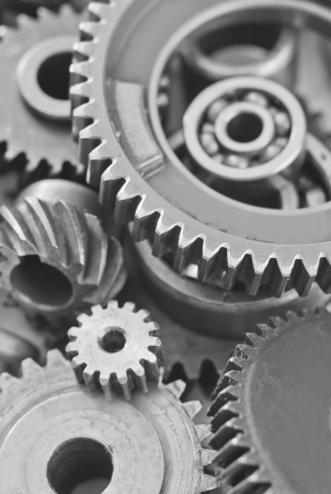 machine teeth: gears,nuts and bolts