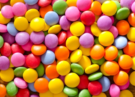 de colores: caramelos de colores