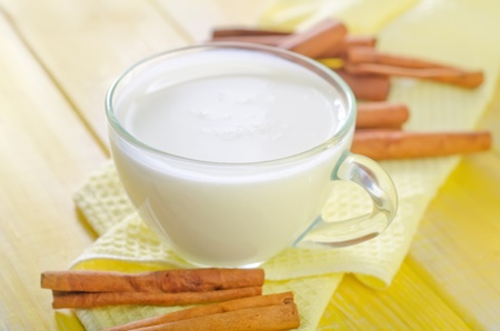pasteurized: milk with cinnamon