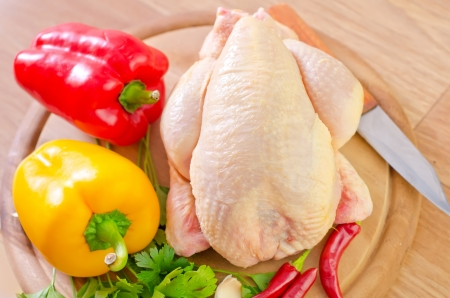 chicken and vegetables photo