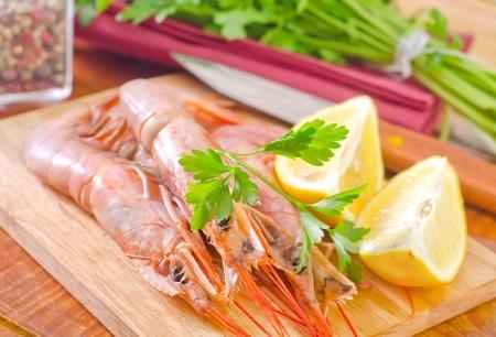 langouste: prawns Stock Photo