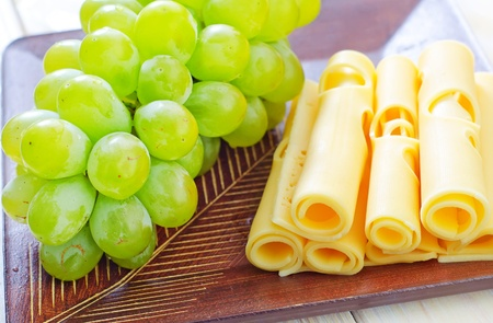 cheese  and grapes photo