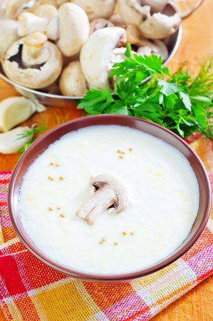 mushroom soup Stock Photo - 21330342