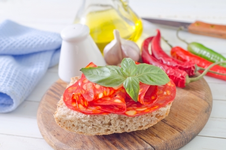 vespers: bread with salami