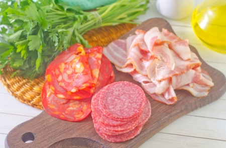 salami and bacon photo