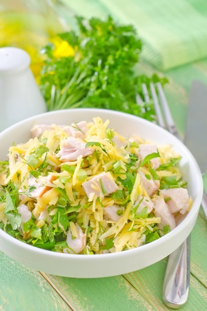 salad with chicken and cheese photo