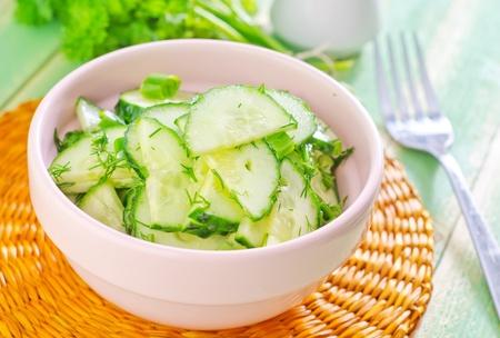 crudite: salad with cucumbers Stock Photo