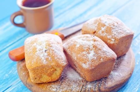rum cake: keks dolci con zucchero Archivio Fotografico