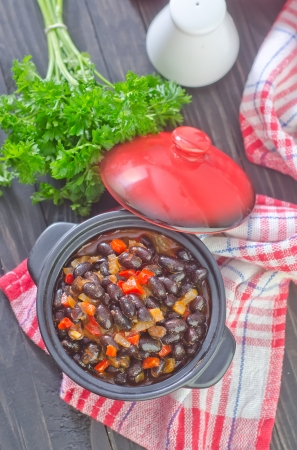 black beans with chili photo