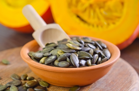 pumpkin seed: pumpkin Stock Photo