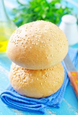rolls for burgers photo