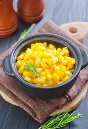 the corn salad: sweet corn Stock Photo