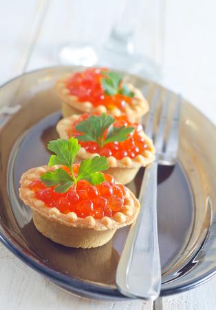 pumpernickel: tartalets with caviar
