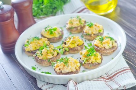 mushrooms with meat and cheese photo