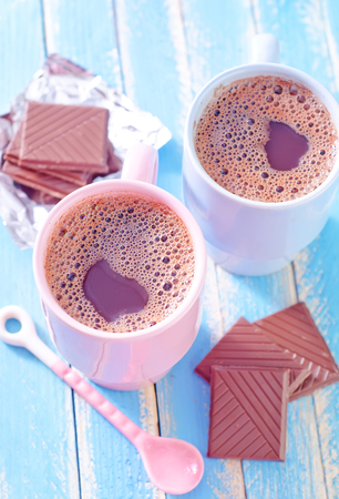 cocoa drink with chocolate photo