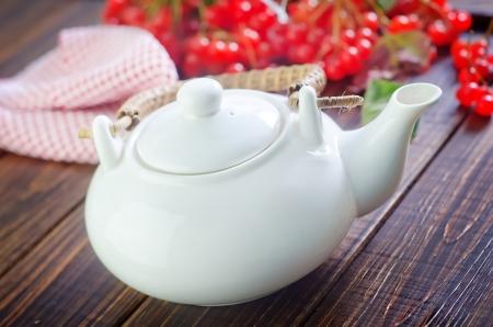 tannin: tea and viburnum Stock Photo