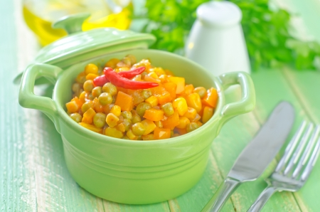 corn and peas photo