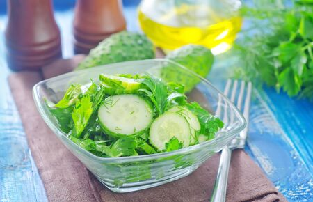 salad from cucumber Stock Photo - 23062585