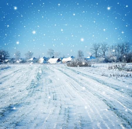 near side: winter vilage