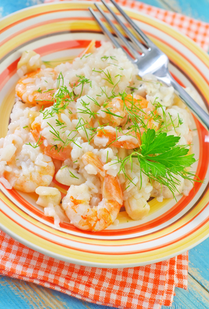 risotto with shrimps photo