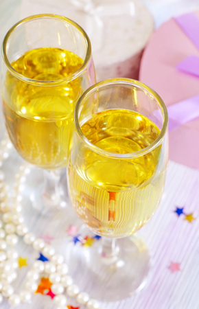 champagne flutes photo