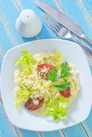 calories poor: kuskus with tomato