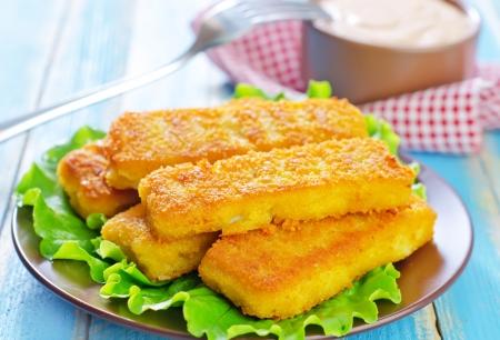 fishfinger: fried fish Stock Photo