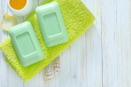 soap on the towels photo