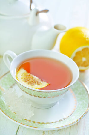 salubrious: tea with lemon Stock Photo