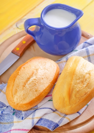 milk and bread photo