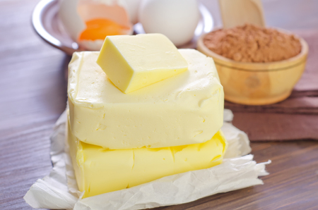 butterfat: ingredients for brownie Stock Photo