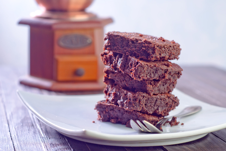 brownies on plate photo